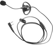 Kenwood Headset w/ D-Ring Ear Hanger w/ PTT & Boom Mic - Part #KHS-25