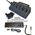 6-Shot Rapid Gang Charger for Kenwood Radios - Part #6-Shot KW
