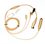 HYT Surveillance Earpiece 3-Wire, Beige, Transparent Tube and Volume - Part #EAN06