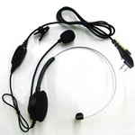 HTY Light Weight Headset With In-Line PTT & VOX (Single Ear) - Part #ECM12